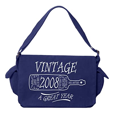Tenacitee Aged Like a Fine Wine 2008 Brushed Canvas Messenger Bag
