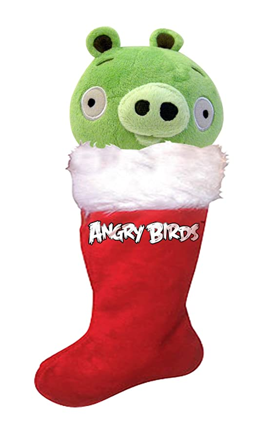 angry birds christmas plush stocking piglet - Christmas Angry Birds