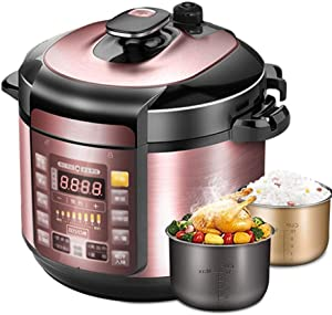Pot, Electric Pressure Cooker, Digital Saute Slow Cooker with Hob-Safe Pot, Programmable Countdown Timer, Slow Cooker, Soup Maker