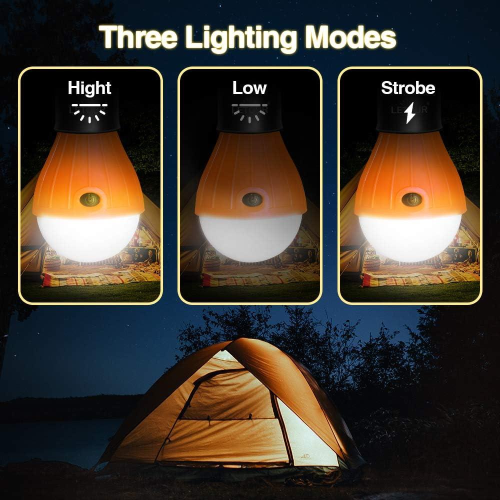 /étanche LETOUR Lot de 12 Lanterne de camping la r/éparation en ext/érieur la voiture le camping lampe /à suspendre veilleuse de secours aliment/ée par piles pour la randonn/ée la p/êche