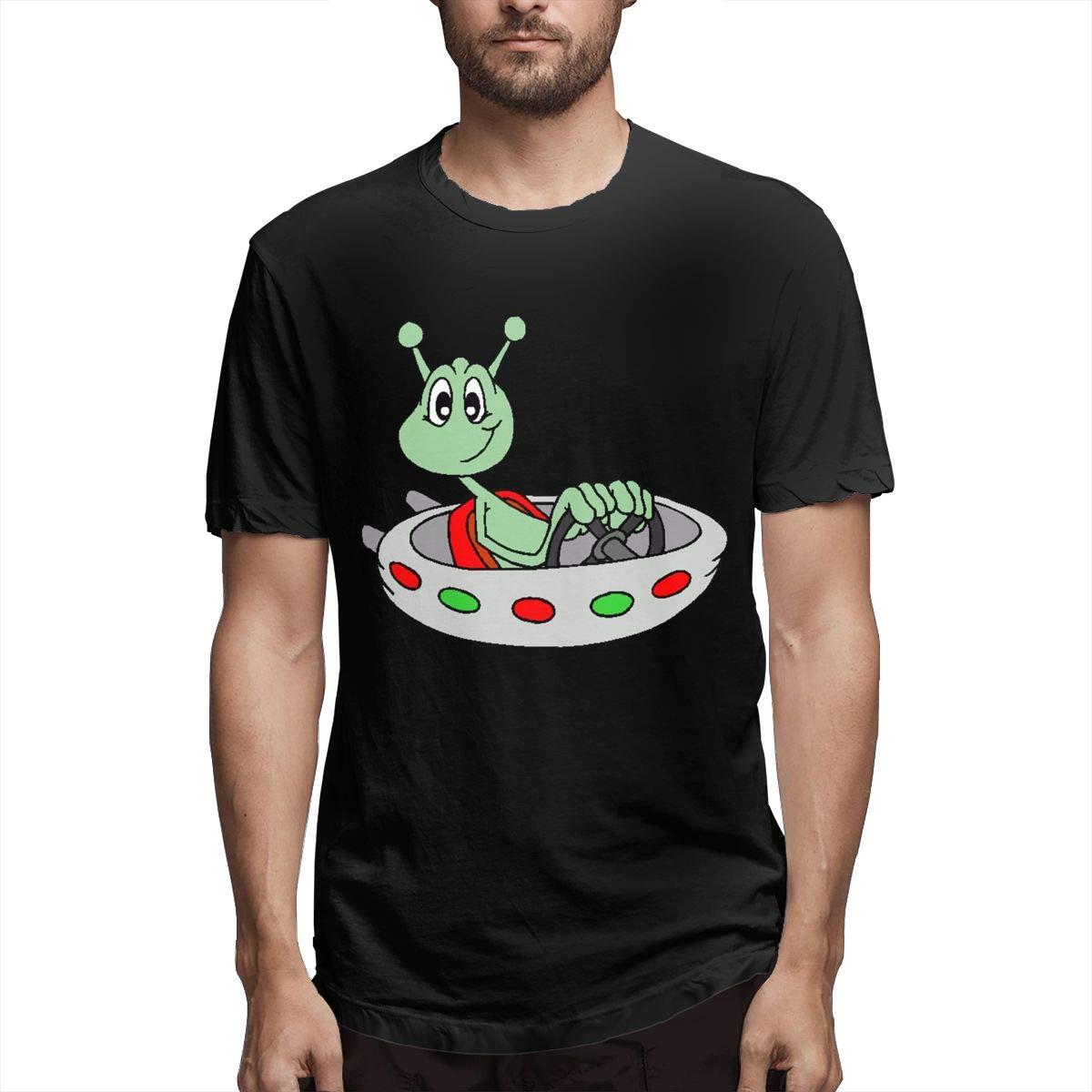 Marsherun Mens Mars Alien Ultra Soft Short Sleeve Shirts