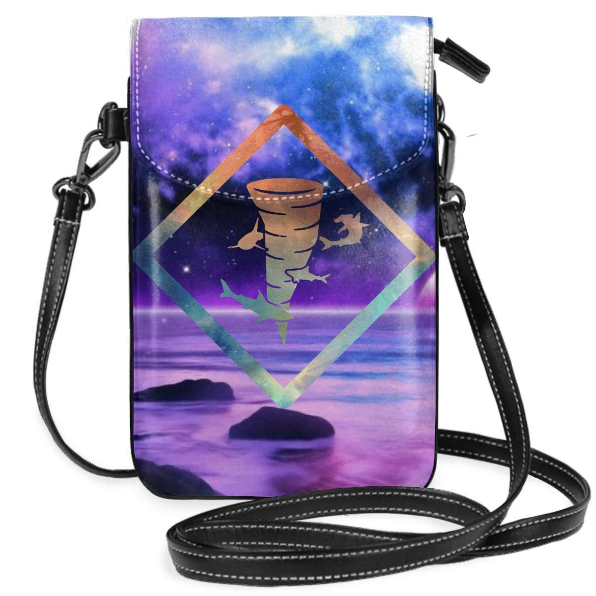 Small Cell Phone Purse Shark Tornado Crossbody Bags with Shoulder Strap Coin Purse Wallet for Women,Girls