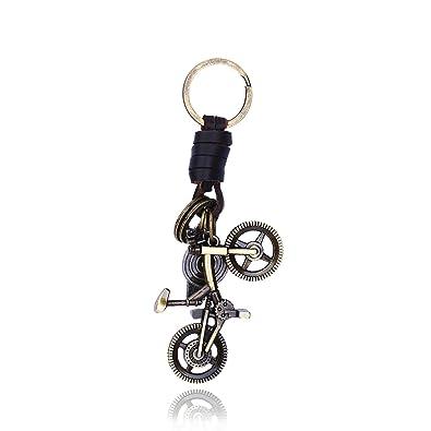 bishilin joyas chapado en oro de piel llavero bicicleta ...
