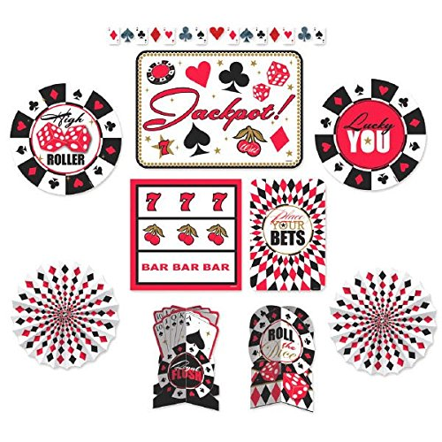 Casino Party Decorating Kit, Paper, Pack of -