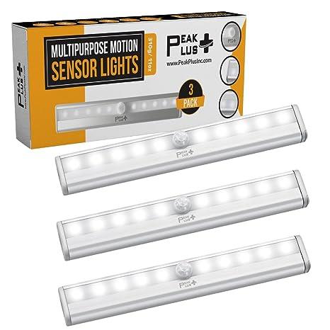 Amazoncom Peakplus Led Motion Sensor Night Light Stick On Lights