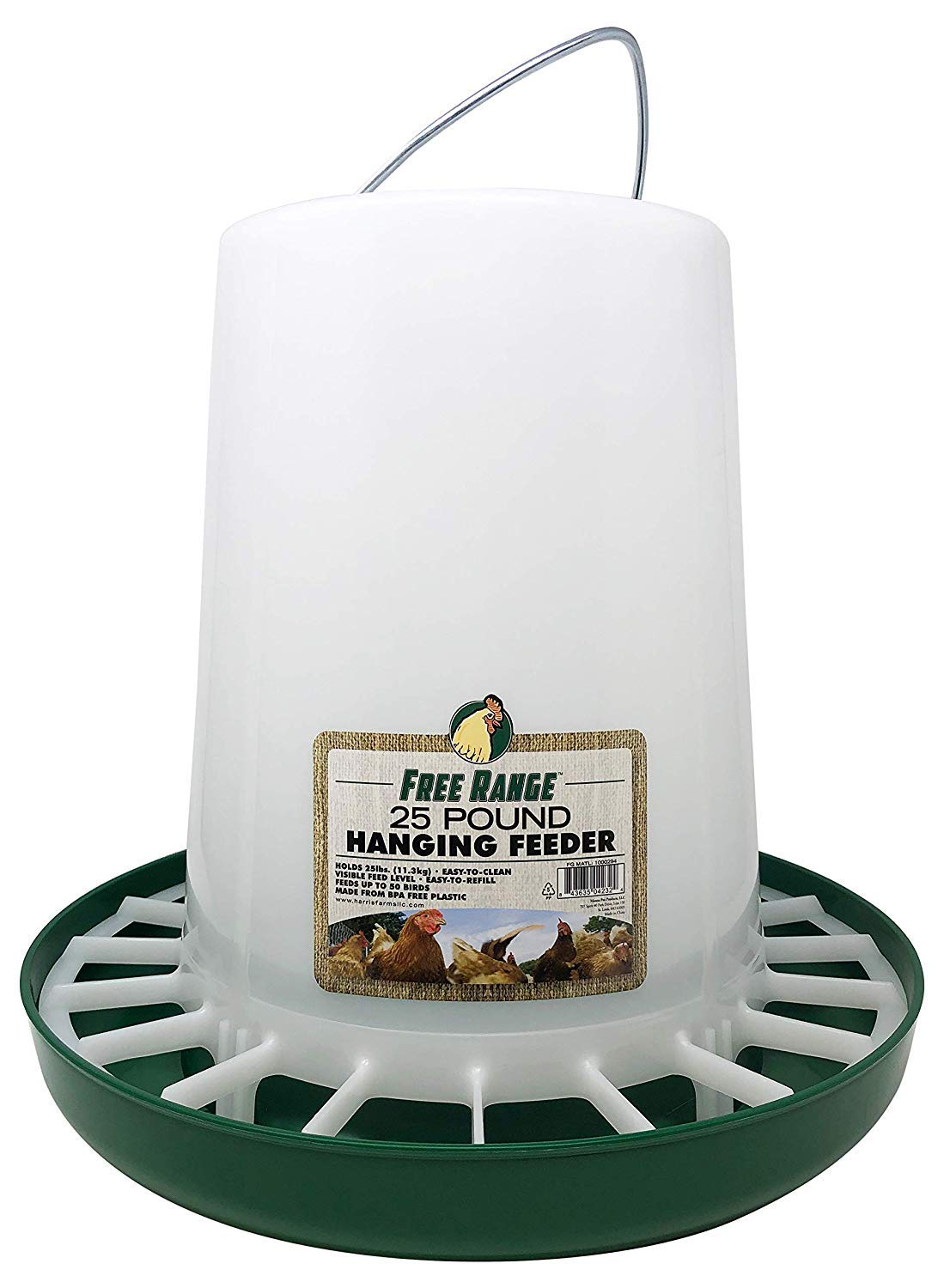 30 Lb Galvanized Steel Hanging Poultry /& Gamebird Feeder with Feed Pan