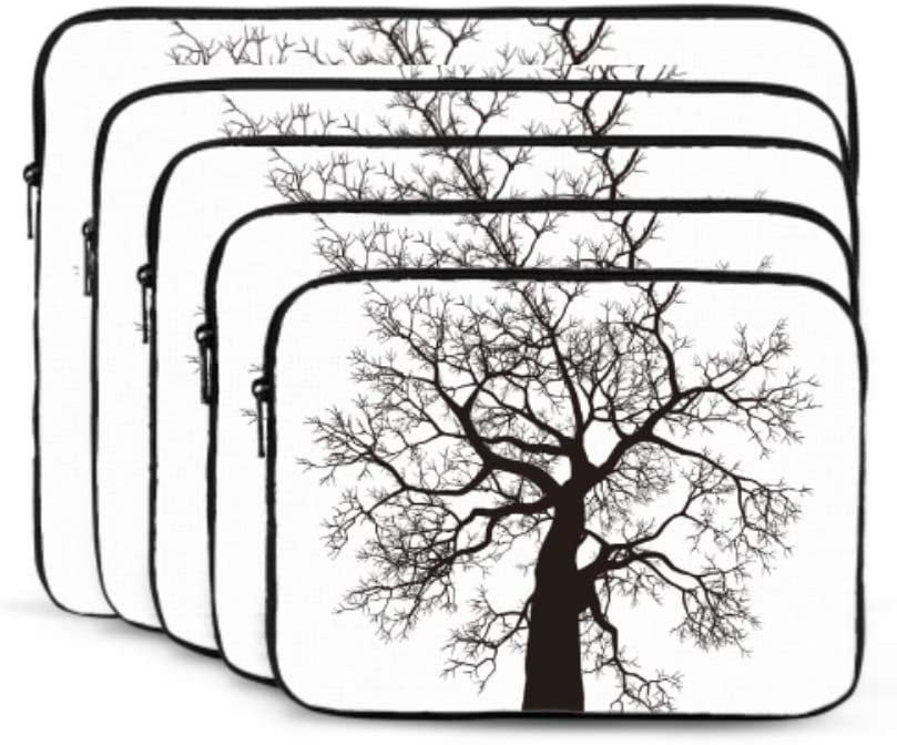 Laptop Hard Shell Case Black Sketch Draft Tree MacBook Air Shell Multi-Color /& Size Choices/10//12//13//15//17 Inch Computer Tablet Briefcase Carrying Bag