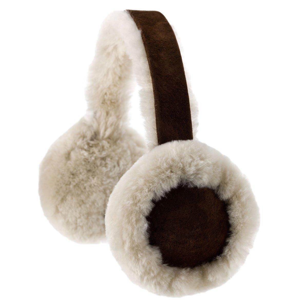 Oakgrain Women's Oakgrain Genuine Sheepskin Ear Muffs One Size Brushwood