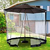 10FT Outdoor Umbrella Table Screen Patio Cover Review and Comparison