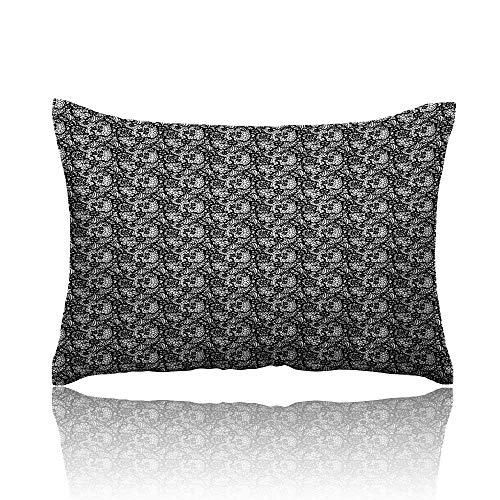 Swirl Lace Mini Dress - Anyangeight Black and White Mini Pillowcase Monochrome Lace with Flowers and Ornamental Swirls Vintage Inspirations Fun Pillowcase 16