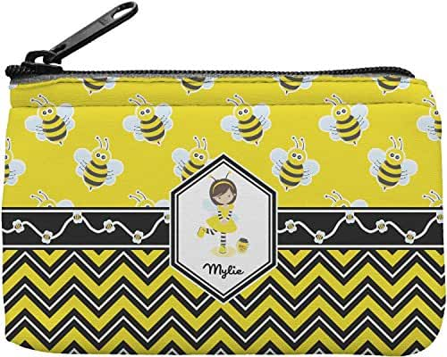 Buzzing Bee Rectangular Coin Purse (Personalized)