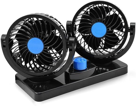 12V ventilador de coche eléctrico de 360 grados rotativo 2 ...