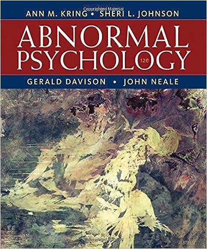 Amazon Com Abnormal Psychology 12th Edition 9781118018491 Ann M