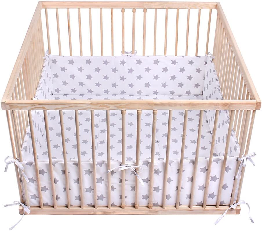 Resistant to Deformation Anti-Allergic Filling; Oeko-Tex Certification Stable and Safe Lulando Playpen Mat 75 X 100 cm for Children High Sides Protects Against Impact Made in EU Soft and Warm