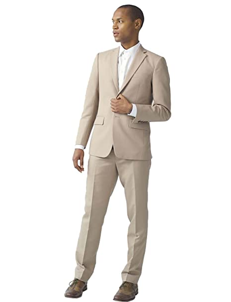 Lilis/® Mens Two-Piece Modern Classic Fit Office 2 Button Suit Jacket /& Pants Set