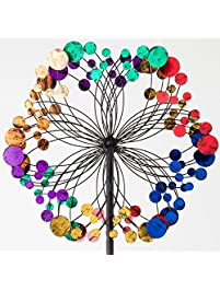 Bits And Pieces   Metallic Kaleidoscope Wind Spinner   Garden Décor    Weather Safe Finish Makes