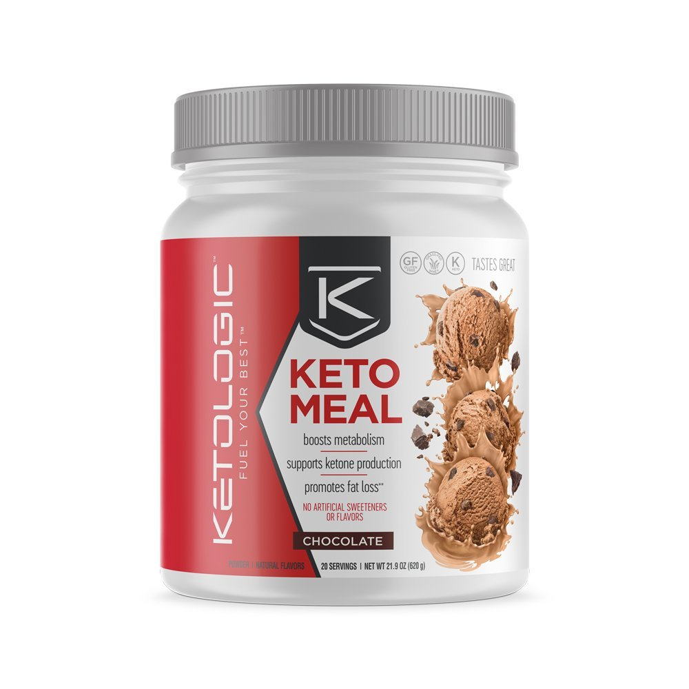 Ketologic Ketogenic Meal Replacement Shake for Low Carb Weight Loss, Chocolate - 20 Servings by Ketologic