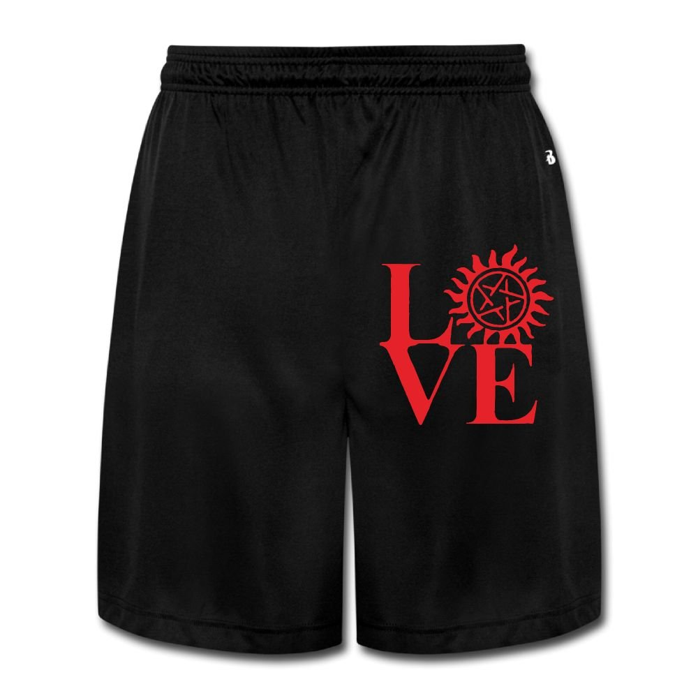 Love Supernatural Men's Casual Quick-Dry Sports Fleece Cargo Shorts