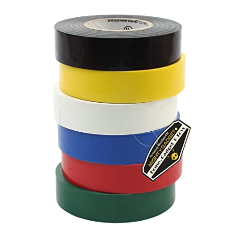 """10 Pack Multicolored Electrical Tape 3//4/"""" x 60 Feet UL Listed High Quality ET-20"""
