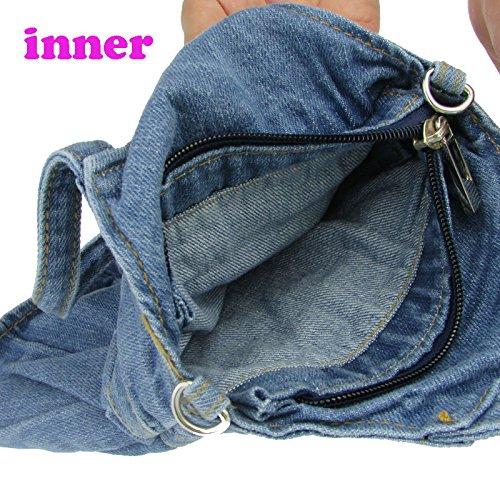 pour cristal main Jeans femme en Mini à Denim donalworld Jupe Sac Motif Bleu femmes Multi Strass xw6qXIIU