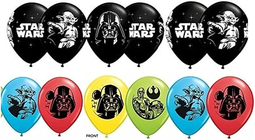 Amazon.com: Star Wars Globos de látex ~ Paquete de 12: Toys ...