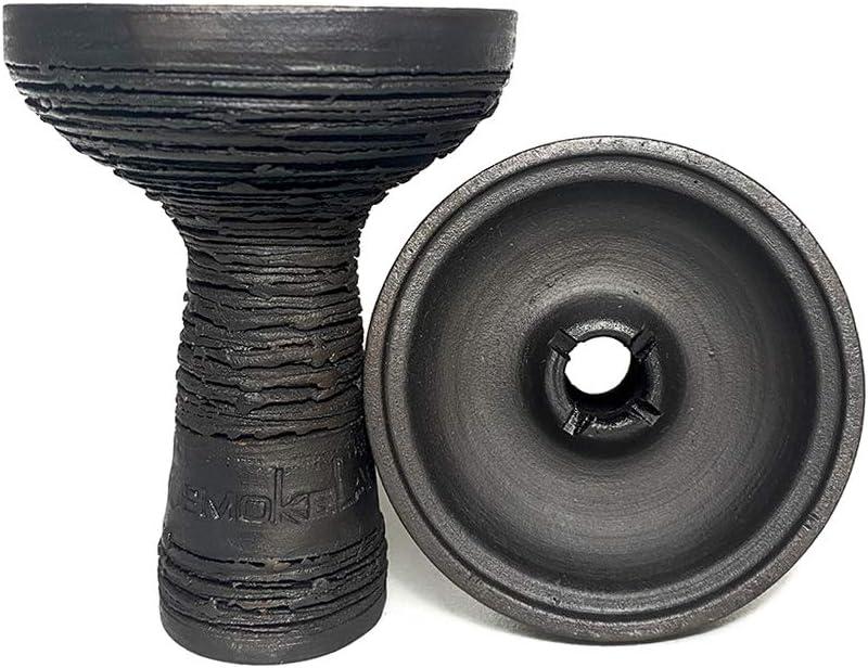 Cazoleta Rusa Mummy de Smokelab de Barro Negro para Cachimba Cargar 15-18 GR Tacto Rugoso
