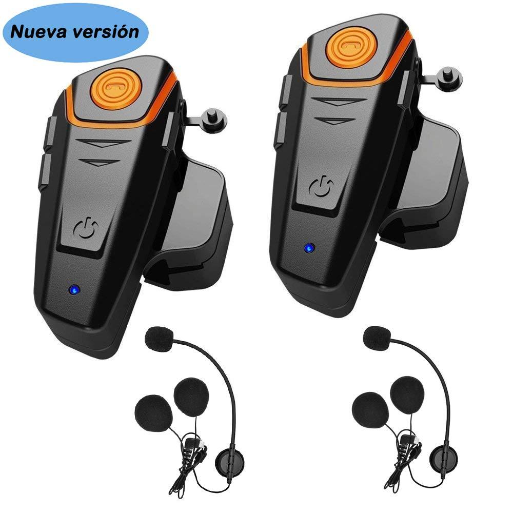 Auriculares Bluetooth para Motocicleta, 1000 m, con Sistema de comunicación Bluetooth, para Casco de esquí, intercomunicador Bluetooth, walkie-Talkie ...