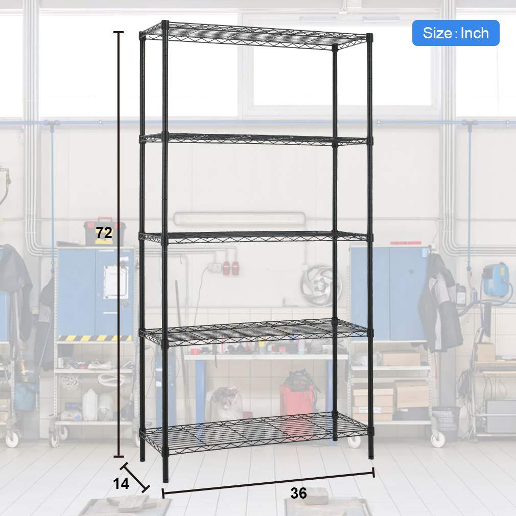 4 Tier Layer Shelf NSF Wire Shelf Shelving Storage Rack Organizer Ge