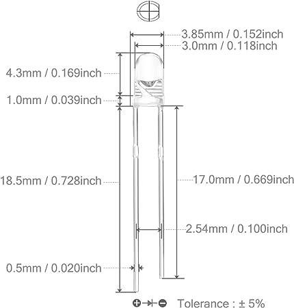 25 huiyuan LED 3034g3c-csc-a Luminous Diode 3mm LEDs 20ma 3500mcd Green Clear 857230