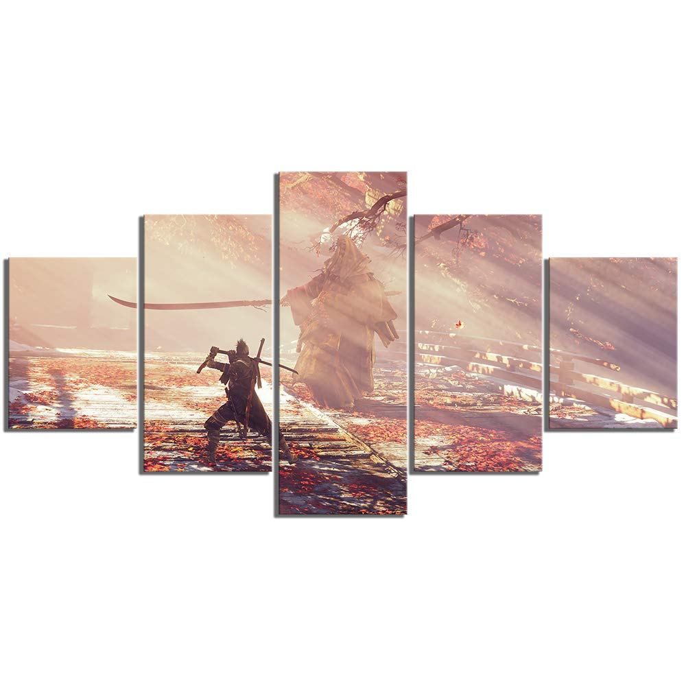 Amazon.com: HD Canvas Paintings Ninja Picture Painting Wolf ...