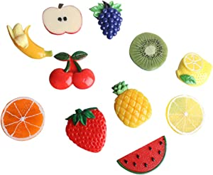11Pcs Cartoon 3D Fruit Fridge Magnet Creative Refrigerator Magnets Cute Message Board Decoration (Multicolor-fruits)