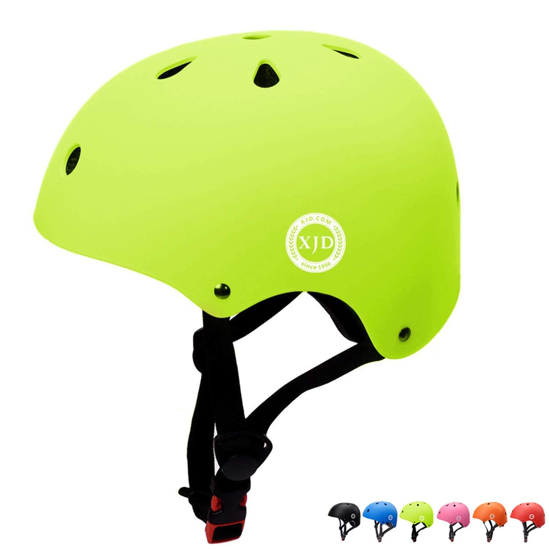 XJD Toddler Helmet Kids Bike Helmet CPSC Certified Adjustable Bike Helmet Ages 3-8 Girls Boys Safety Skating Scooter Cycling Rollerblading (Yellow)
