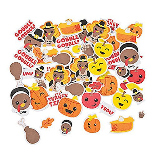 100 ~ Thanksgiving Foam Stickers / Self-adhesive Shapes ~ 1/4