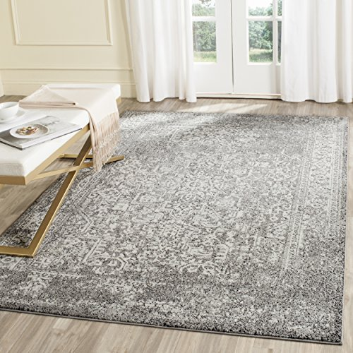 Safavieh Evoke Collection EVK256D Vintage Oriental Grey and Ivory Area Rug (3' x 5') (3x5 Area Grey Rug)
