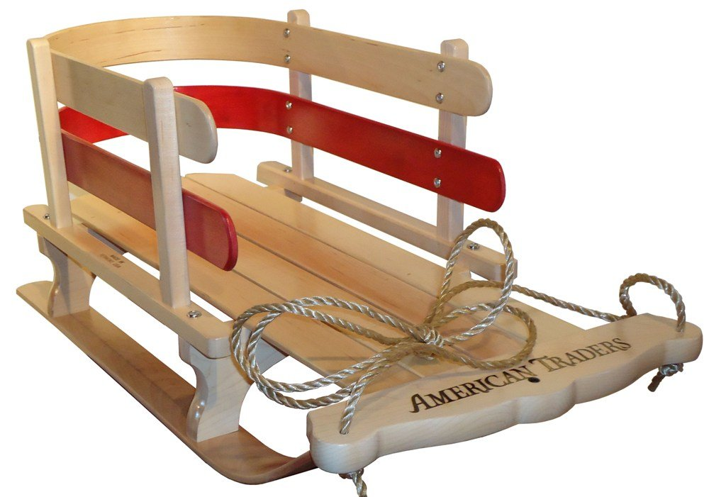 Wooden Baby Sled by AMERICAN TRADERS