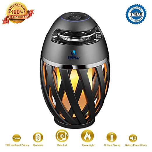 Amazon.com: Wireless Outdoor Speaker, Viiwuu Led Flame ...