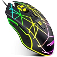 VersionTECH. Gaming Mouse Souris Ergonomic Wired Gaming Mice with 7 Colors LED Backlight, 4 DPI Settings from 1200 Up to…