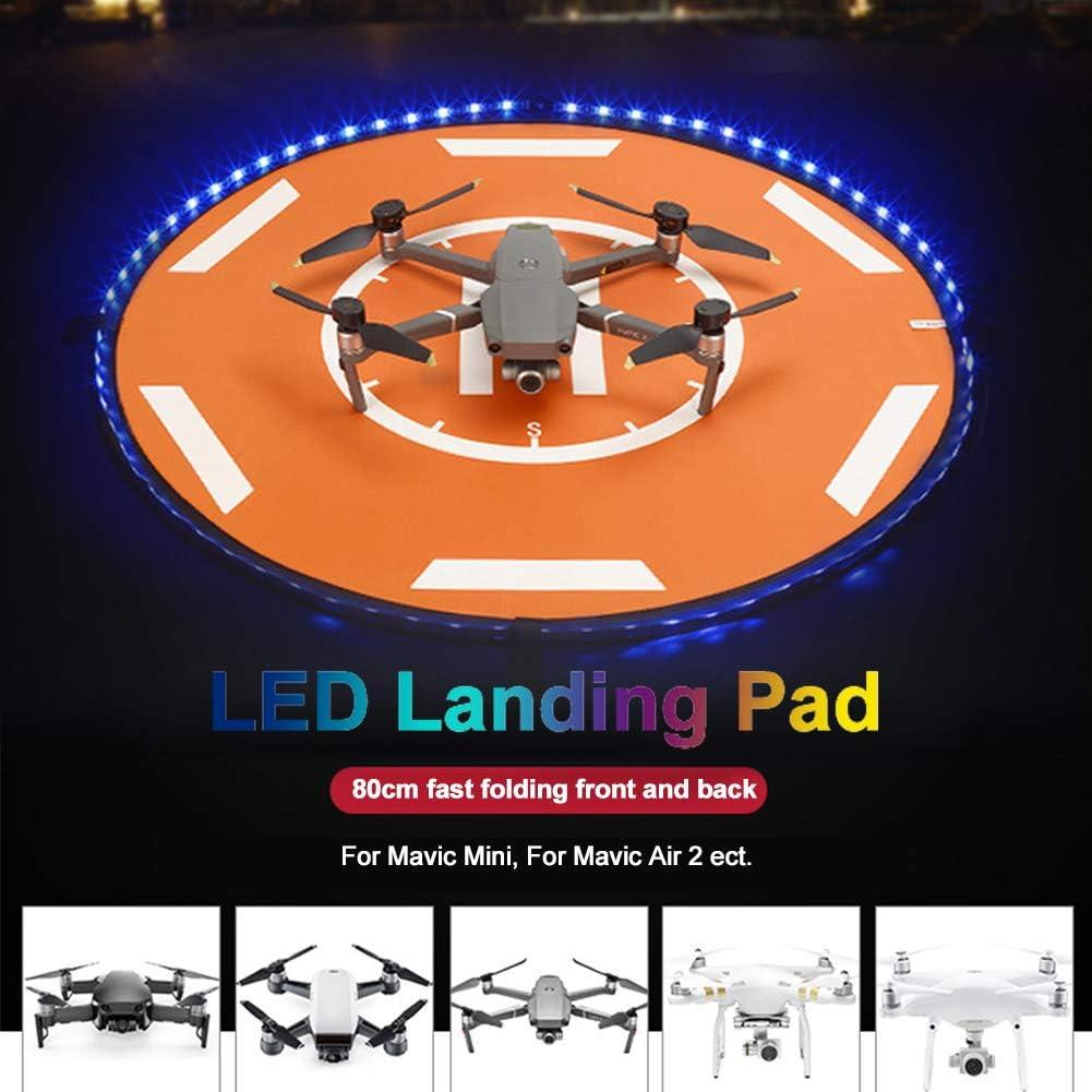 Drone Landing Pad Round With Reflective Strip Anti Scratch For DJI MAVIC 2
