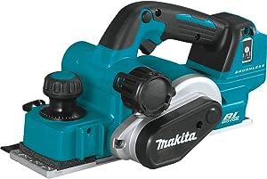 "Makita XPK02Z 18V LXT Lithium-Ion Brushless Cordless 3-1/4"" Planer, AWS Capable, Tool Only"