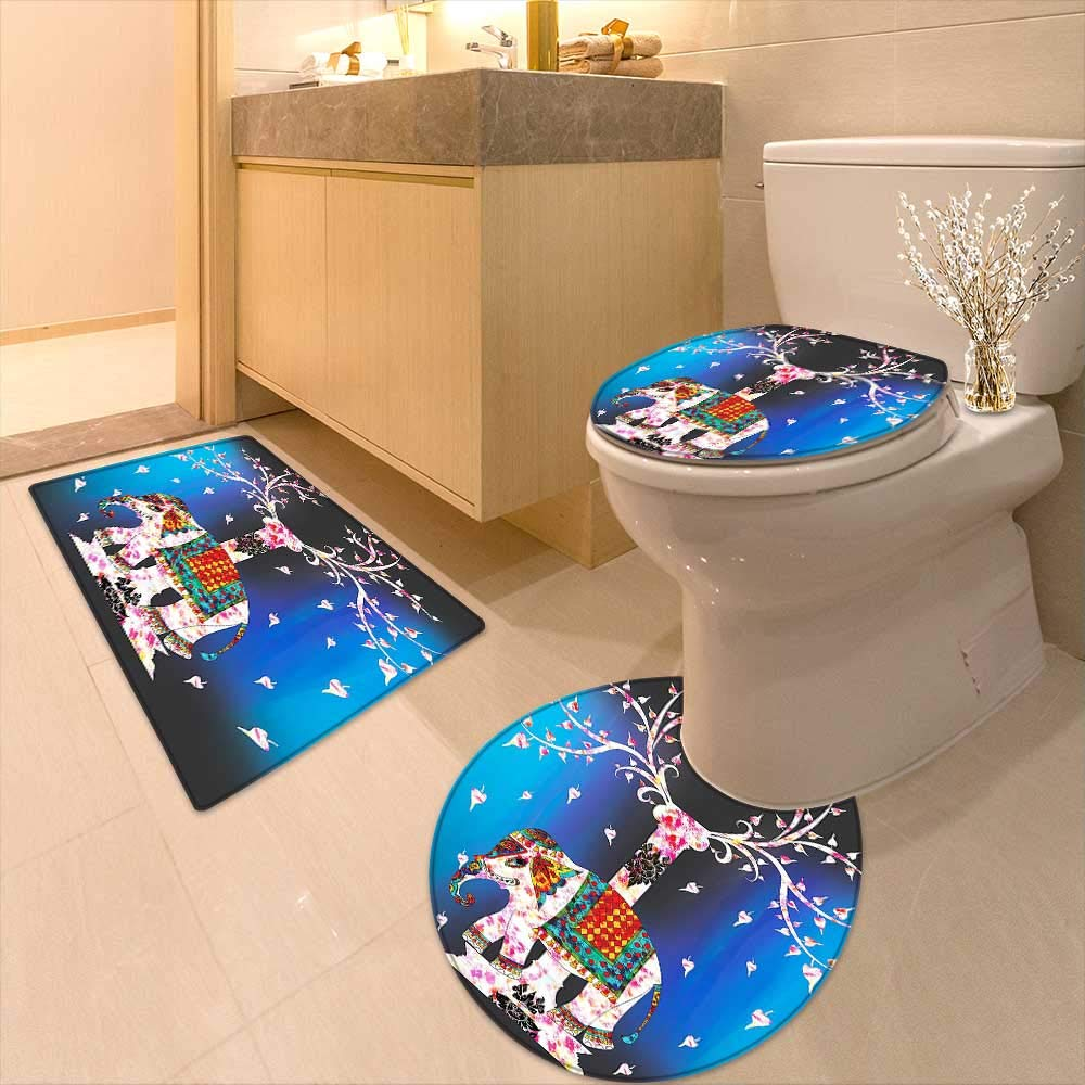 Printsonne Lid Toilet Cover of Life Ethnic Tribal Indian Design Pastoral Decorations Ombre Wall Panels Art Fuchsia Personalized Durable