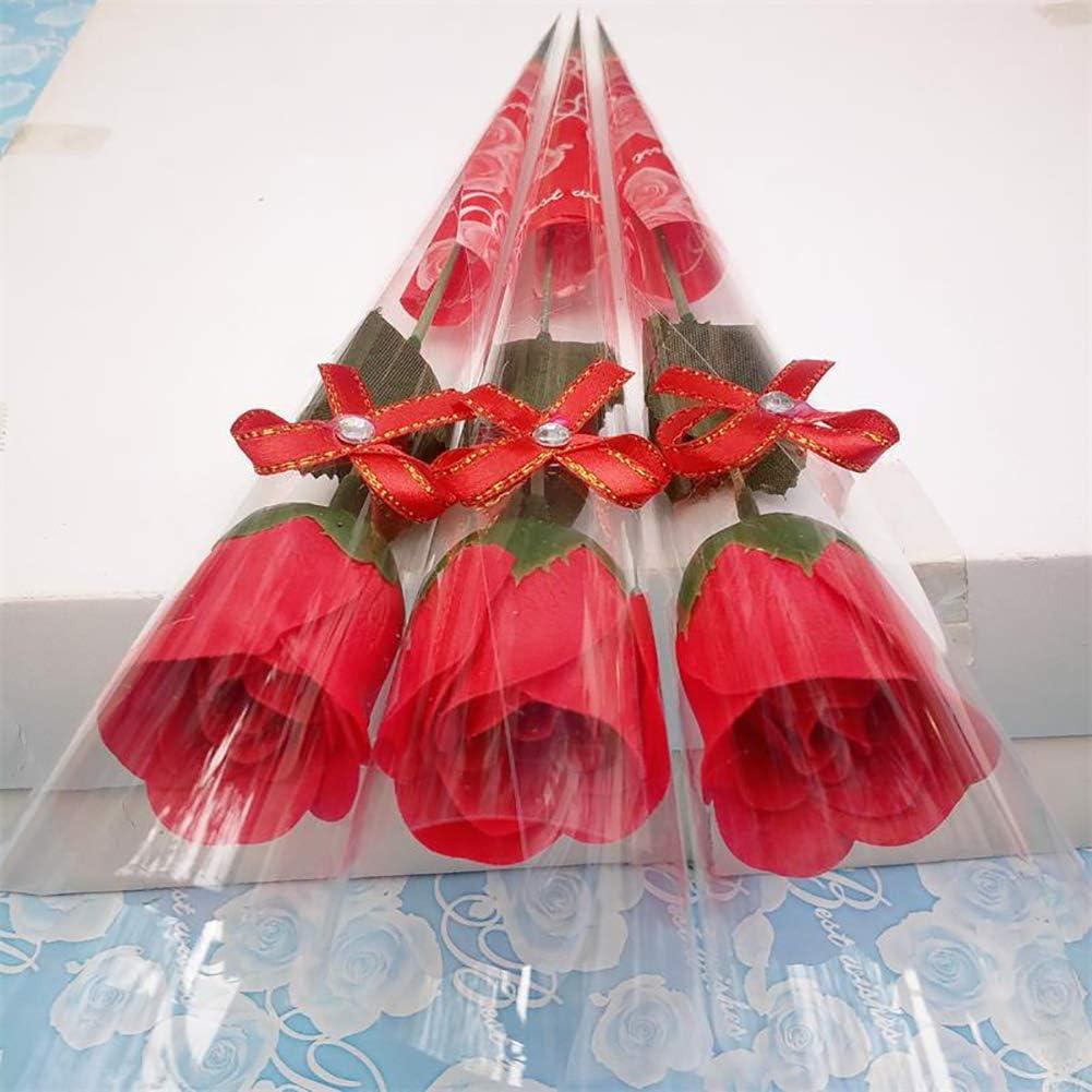 Brussels08 Lot de 10 savons en forme de roses artificielles en bouquet de fleurs /à tige unique