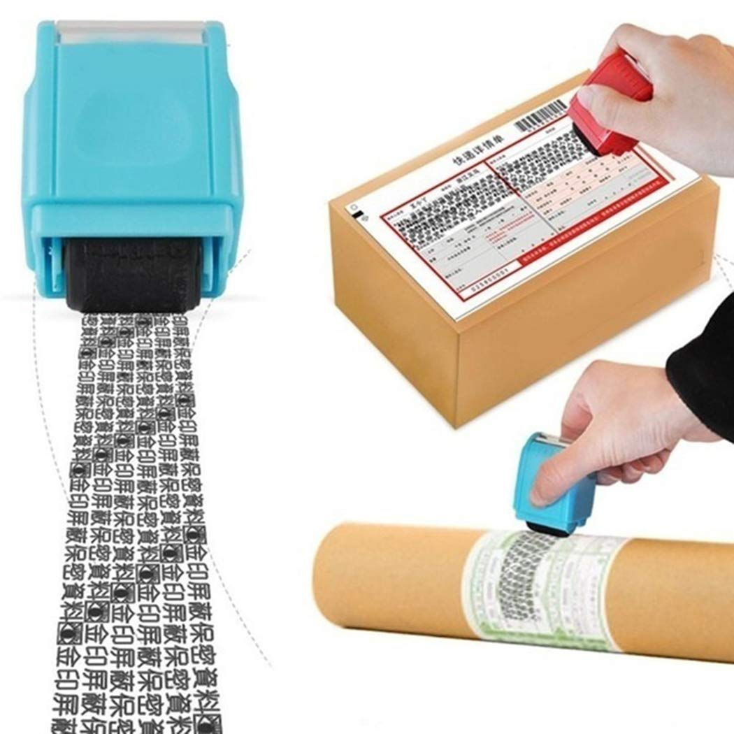 1.5 Inch Wide Privacy Protection Roller Stamp Identity Theft Id Guard Miseyo