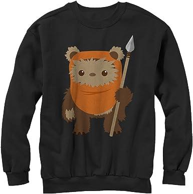 Star Wars Juniors Wicket Ewok Cartoon Cowl Neck Sweatshirt