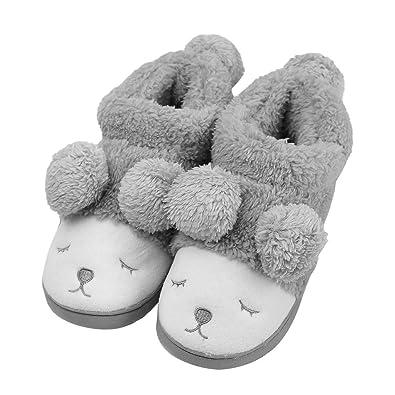 Amazon.com | MiYang Winter Warm Indoor Slippers For Women Fleece ...