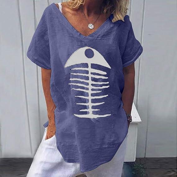 Wave166 Mujer Verano Camisetas Casual CamMujeres Verano ...