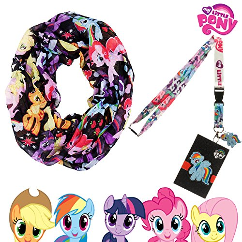 MLP My Little Pony Brony Figures Multi-Colored Infinity Scarf Knit with Lanyard (My Little Pony Equestria Girl Costume)