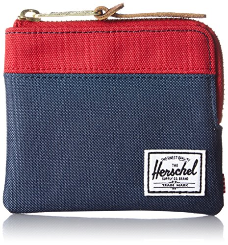 Wallet Pouch (Herschel Supply Co. Men's Johnny Wallet, Navy/Red, One Size)