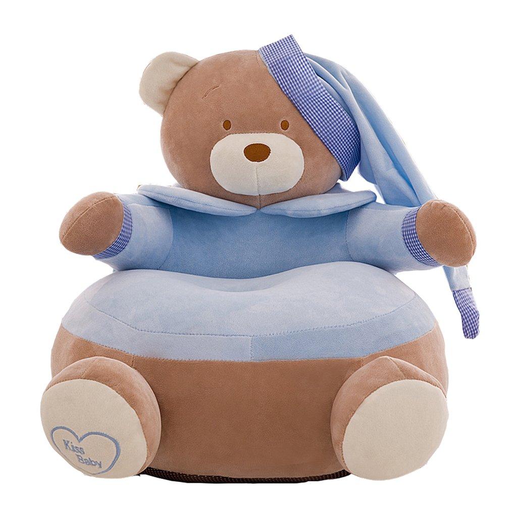 Homyl Cute & Comfortable Children Armchair Cover Kids Toddler Bean Bag Chair - #2 Blue, 20x20 Inch