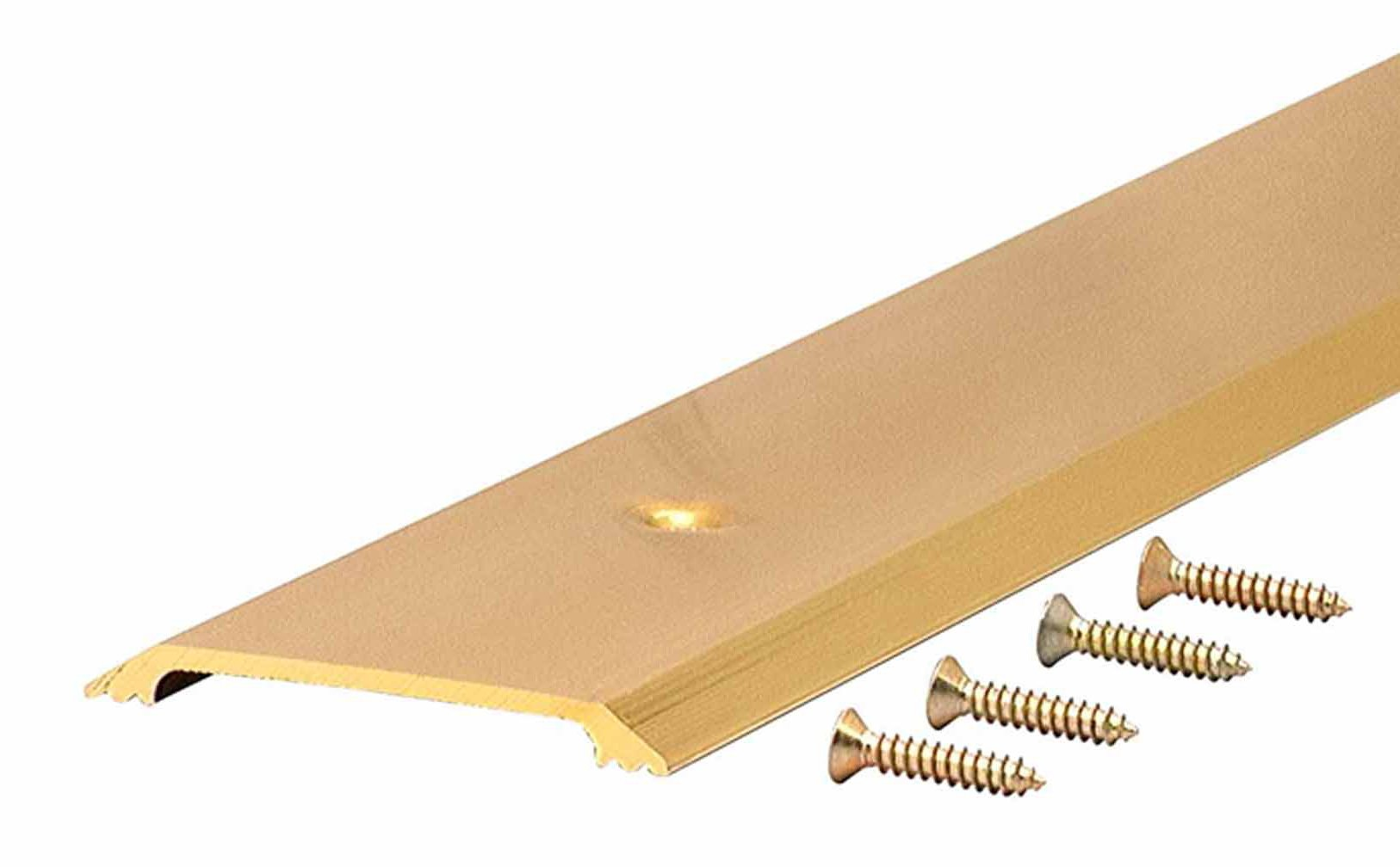 M-D Building Products 9613 Premium Aluminum Flat Top Threshold, 2-1/2-by-36 Inches, Brite Gold