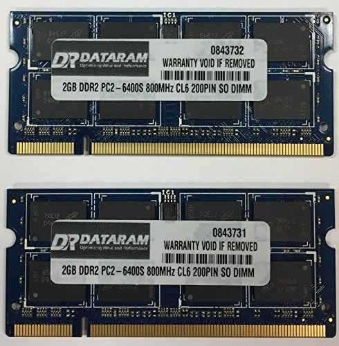 4GB (2X2GB) DDR2 MEMORY FOR Toshiba Satellite A500-11U